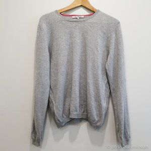 100% Cashmere Super Soft Crew-Neck Sweater (Grey)